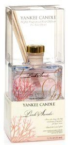 Pink Sands Yankee Candle Mini-reed Diffuser 1.2 Oz by Yankee Candle. $9.99. Made in USA. Indoor/Outdoor Use. This attractive 1.2 ounce Yankee Candle reed diffuser continuously delivers the scent of an exotic island escape in the beautiful mix of bright citrus, sweet florals & spicy vanilla. Plus, the distinctive, handdecorated glass accents any decor with style.