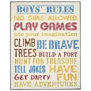 Boys Rules Sign - Amour Decor