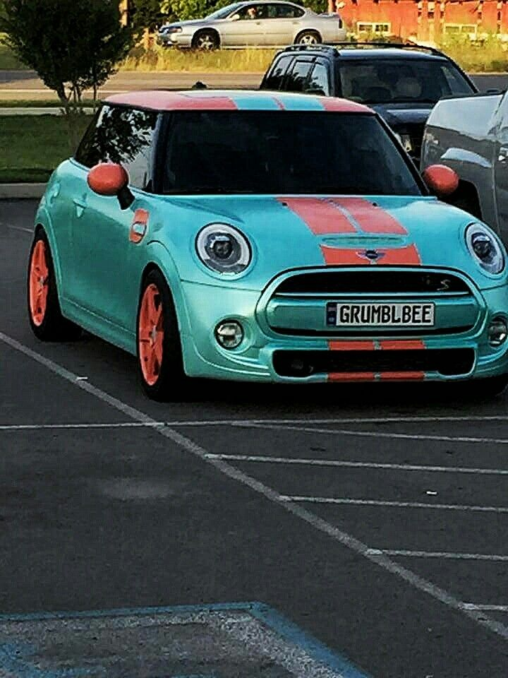 my 2015 f56 mini cooper s plastidipped tiff blue pearl custom coral accents by dipnosis 2015. Black Bedroom Furniture Sets. Home Design Ideas