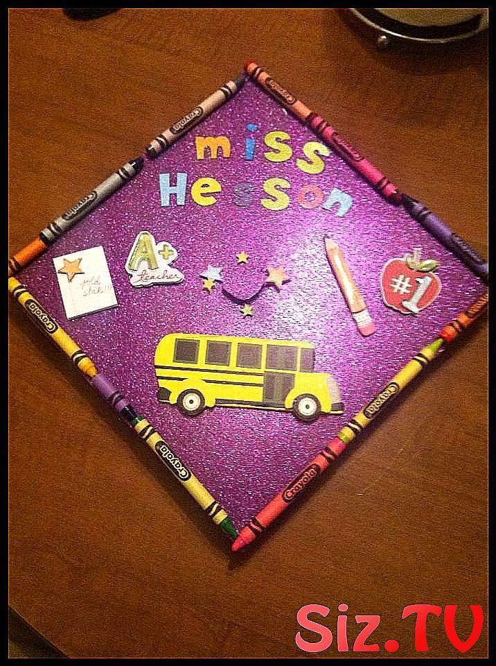 Elementary education major graduation cap I woul #border #Cap #crayon #Education #Elementary