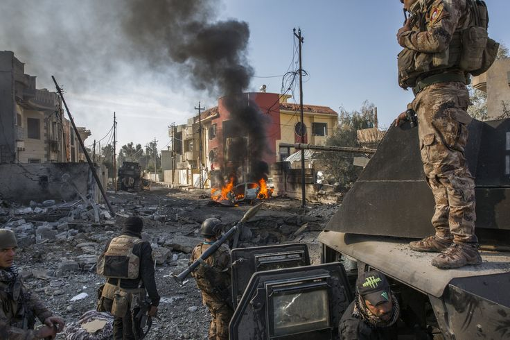 Our photographer was embedded with an Iraqi special forces unit in Mosul, where Islamic State militants have been pushed west across the Tigris River. But 750,000 people remain in areas under the militants' control.