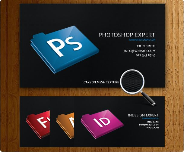 Free black designer business card templates designed on a black ...