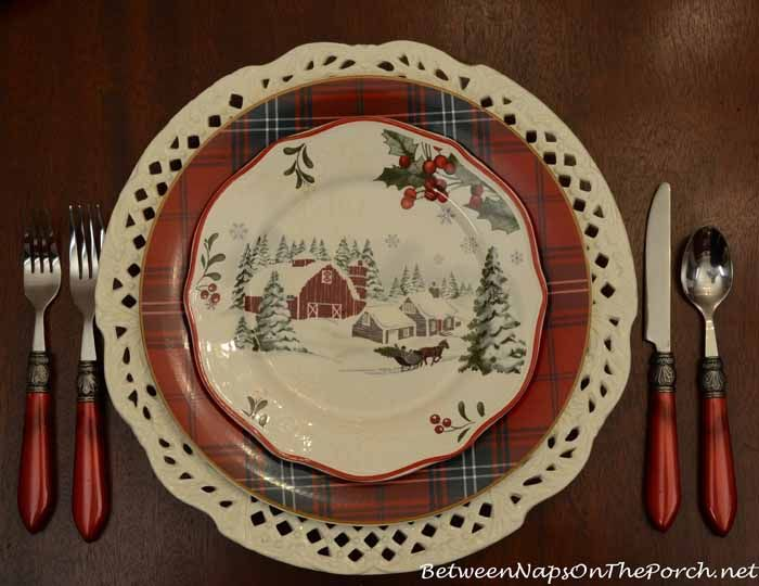 Christmas Tablescape   Williams Sonoma Tartan Plate (no Pattern Name) And A  Better