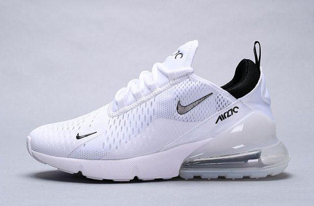 Mens Womens Nike Air Max 270 Sneakers WhiteWhiteBlack