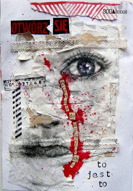 Collaged Face Texture! paper art Visual Texture  Suitable to aid with GCSE Question like Textures
