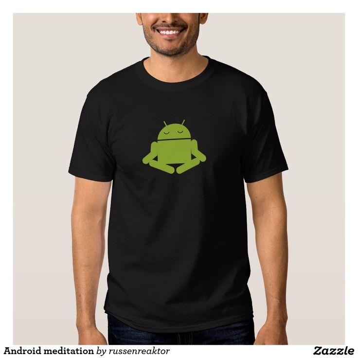 Android meditation tee shirt. Regalos, Gifts. #camiseta #tshirt