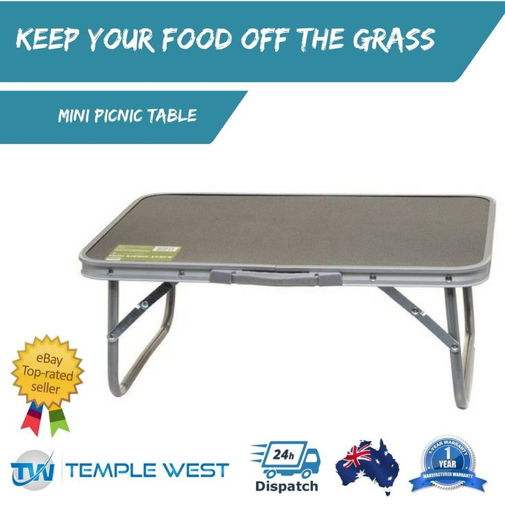 Mini Picnic Table Lightweight Strong Aluminium Folding Camping w Carry Handle