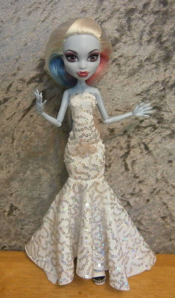 Mermaid style gown for monster high dolls by moonsight68 on Etsy, $18.00