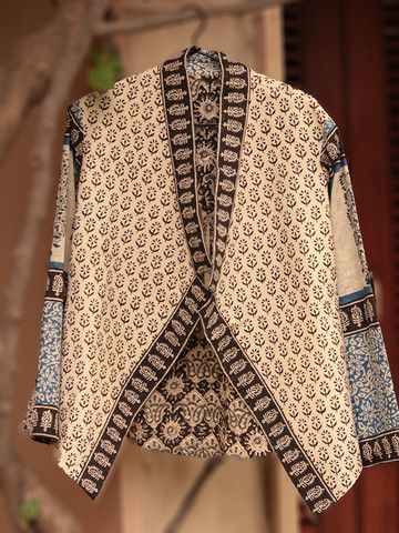 Hand block printed cotton Jaipuri jacket, yummy