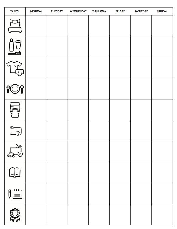 minimalist chore chart for little kdis