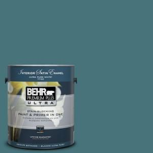 behr premium plus ultra 1 gal home decorators collection sophisticated teal satin enamel interior - Behr Home Decorators Collection