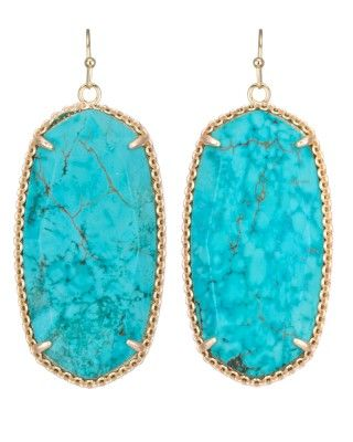 Deily Statement Earrings in Turquoise - Kendra Scott Jewelry.