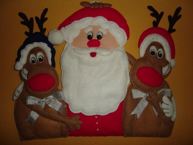 Santa y amigos Fieltro