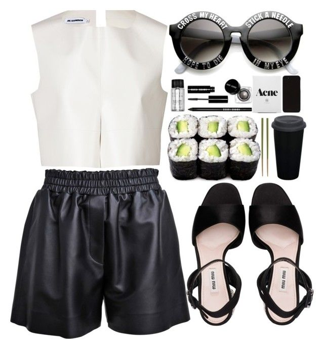 """""""Out for lunch"""" by haboon on Polyvore featuring Acne Studios, Jil Sander, Bobbi Brown Cosmetics, Miu Miu and Crate and Barrel"""