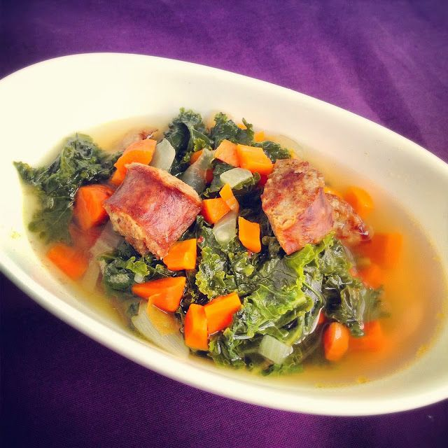 honestly delicious: Sausage and Kale Soup [I wonder if there are any feasible alternatives to the lard in it though...]