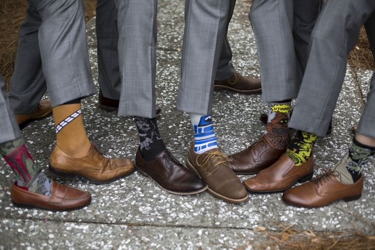 Groomsmen Photos - star wars wedding socks groomsmen gift - charleston crafted Click through for the links to buy all of these Star Wars Socks!
