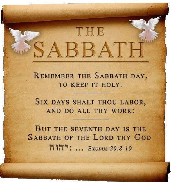 Exodus 20:8-10 (KJV) ~ Remember the sabbath day, to keep it holy.  Six days shalt thou labour, and do all thy work: But the seventh day is the sabbath of the Lord thy God: in it thou shalt not do any work, thou, nor thy son, nor thy daughter, thy manservant, nor thy maidservant, nor thy cattle, nor thy stranger that is within thy gates: