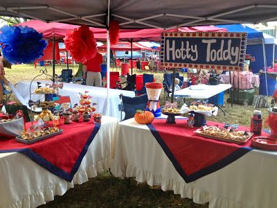 I love The Grove Gal's tailgate party. Such cute decorations and foods!