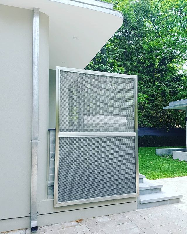 Stainless Steel Privacy Screen Custommetalfabrication Bazayblacksmithing