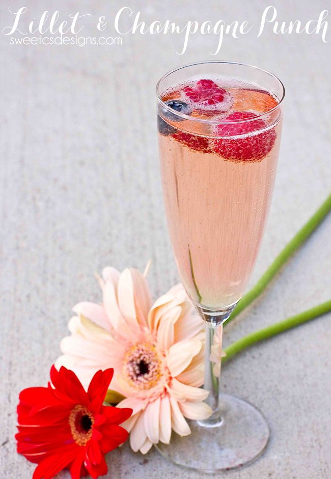 Lillet Champagne Punch - Sweet C's Designs
