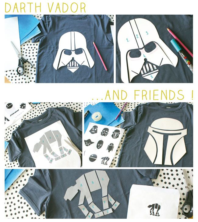 diy-tshirt-star-wars - if the instructions work, they Might be forgiven the misspelling of Vader.