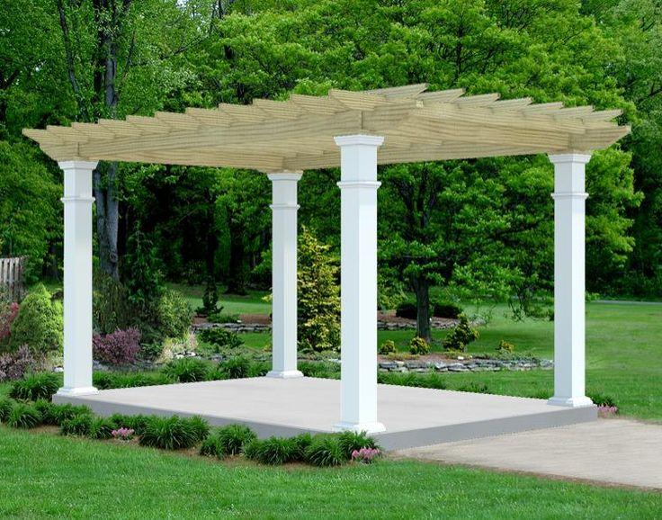 Oasis pergola open air backyard ideas pinterest for Open pergola designs
