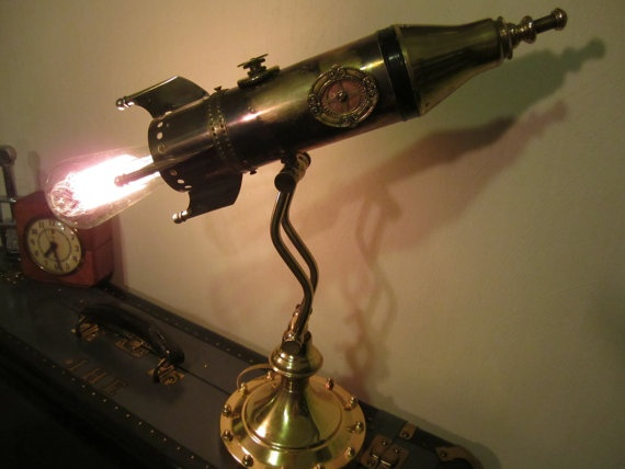 Victorian Rocket Lamp - Wow!  My husband would love this.