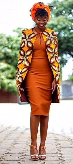 African Cape Jacket. A beautiful cape jacket made from Ankara print fabric. It…