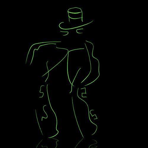 Lychee portátil 15 Pies 5M de neón que brillan intensamente del efecto estroboscópico electroluminiscente EL alambre con controlador de la caja de la bacteria para decoración de Navidad, las Fiestas rave, disfraz de Halloween (verde)  #EL