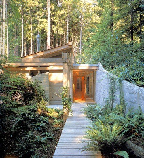 I like this entrance. Taken from the tiny house blog.