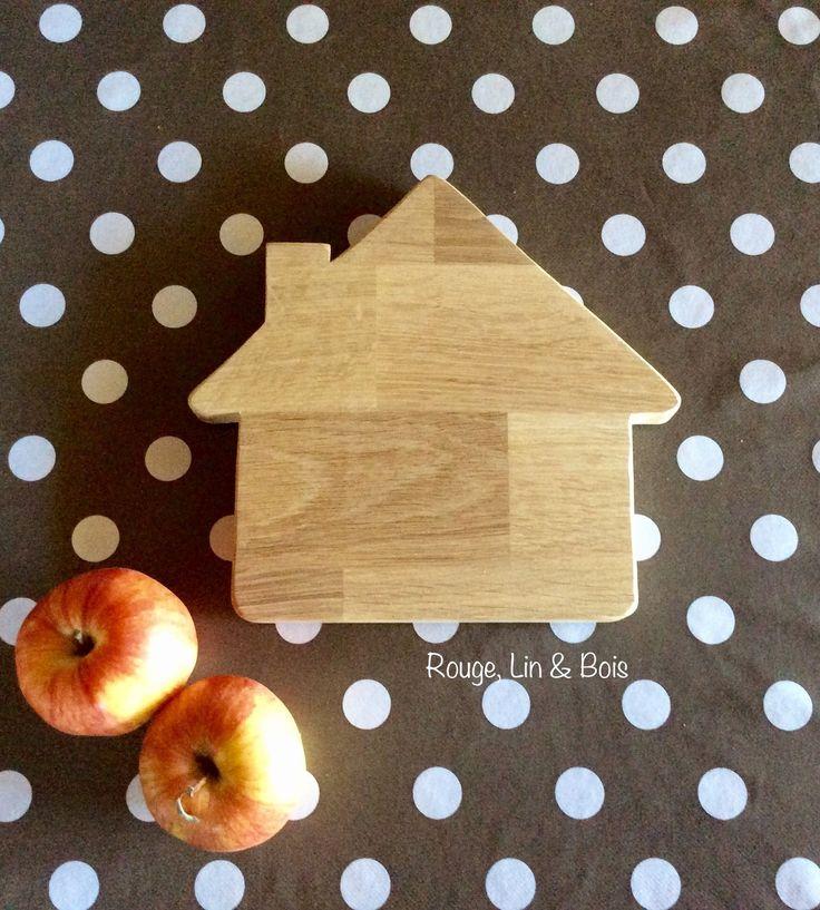 Dessous de plat maison accessoire de cuisine en bois de chêne : Cuisine et service de table par rouge-lin-et-bois
