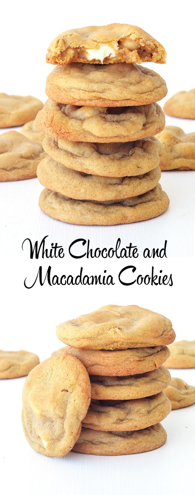 Perfectly golden White Chocolate and Macadamia Cookies!
