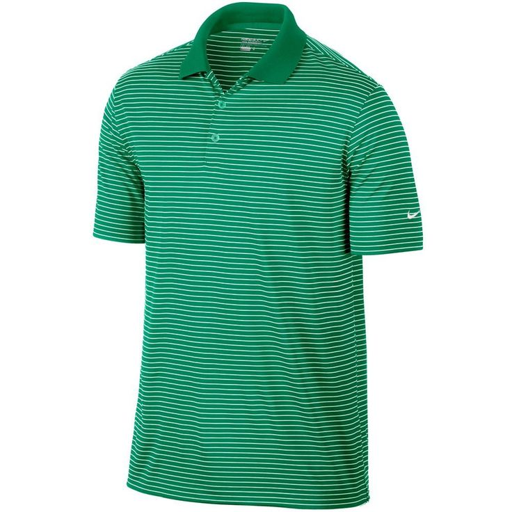 With a stylish all over graphic pattern this mens Dri-Fit Victory stripe golf polo shirt by Nike will ensure you look your very best on the course