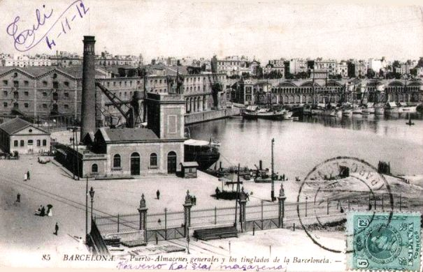 Power station for the hidraulic cranes of the port of Barcelona, 1913