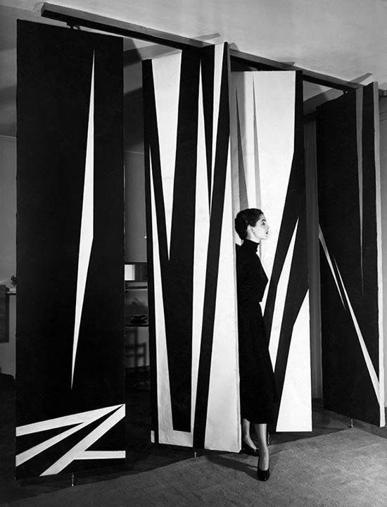 William Klein, Jeanne Klein, Milan, 1952.