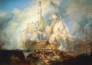 The Battle of Trafalgar 1  by Joseph Mallord William Turner