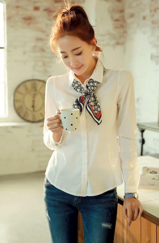 StyleOnme_No. 35618 #petitscarf #scarf #miniscarf