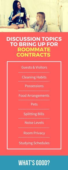 The  Best Roommate Contract Ideas On   Good Colleges