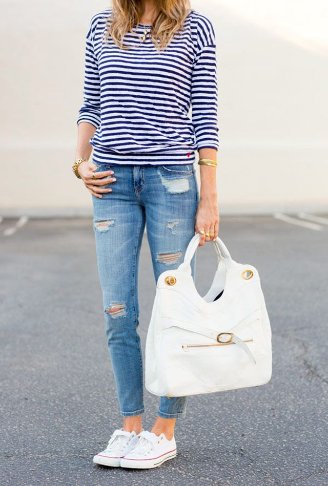 - White Converse sneakers for spring -