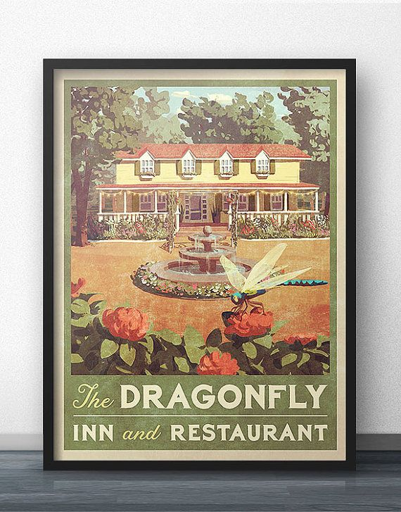 Dragonfly Inn Vintage Poster Inspired by Gilmore by WindowShopGal
