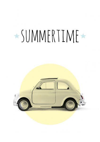 Postcard Summertime via webshop www.toefwonen.nl