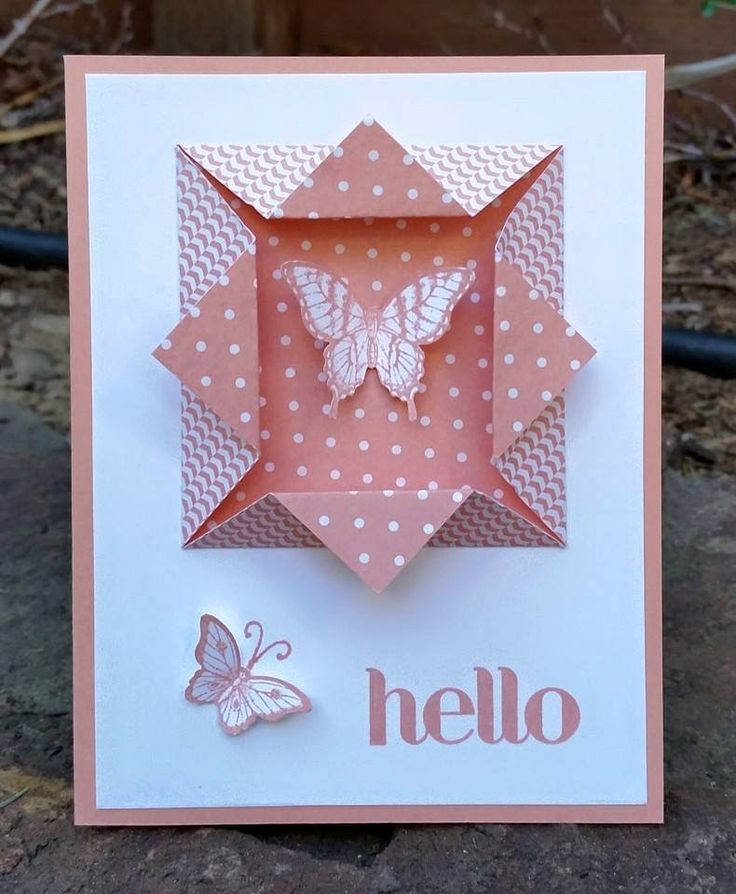 "Easy ""folded window frame"" for your card!"