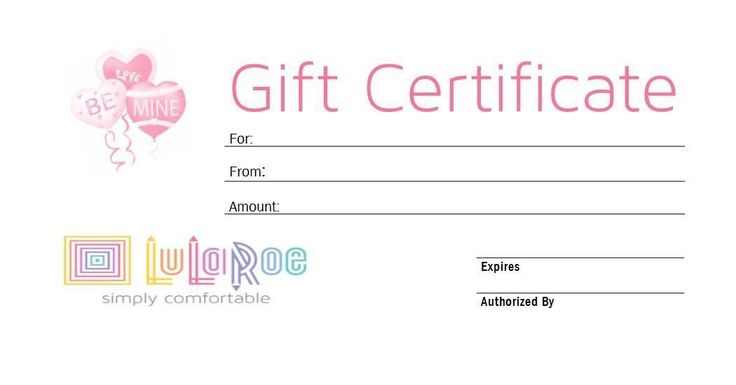 LuLaRoe gift card/ gift certificate graphic for consultants