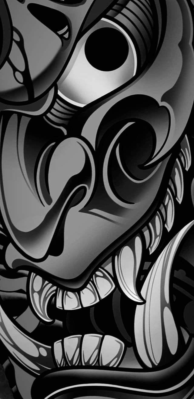 Hannya Mask Abstract Iphone Wallpaper Badass Wallpaper Iphone Japanese Tattoo Art Tattoo wallpaper 4k iphone