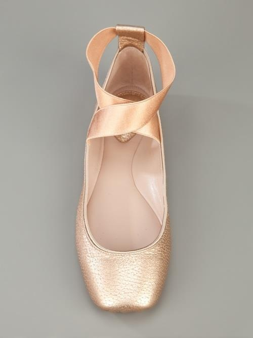 Ballet flat shoes made to look like pointe shoes.