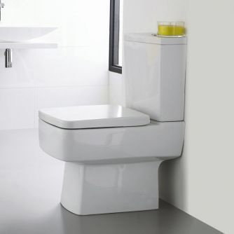 The Ultra Square close coupled toilet adds contemporary style
