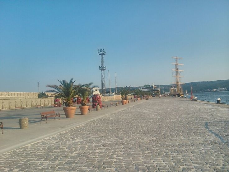 Sea port - place for walking