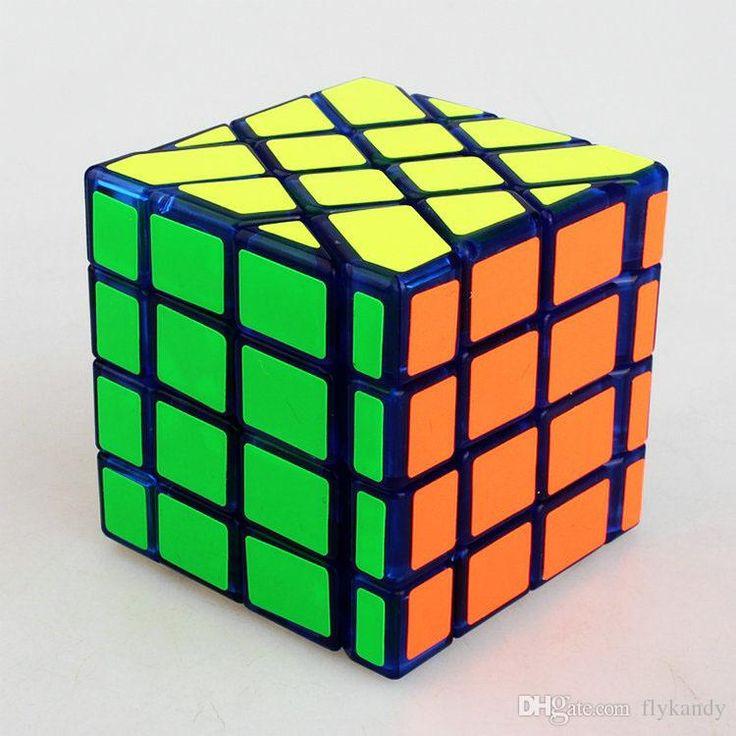 Transparent Blue four-order Puzzle Cube Magic enhanced version moyu fisher cube rubik's #DHgatepin