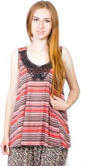 Dream of Glory Inc. Casual, Party Sleeveless Striped Women's Top