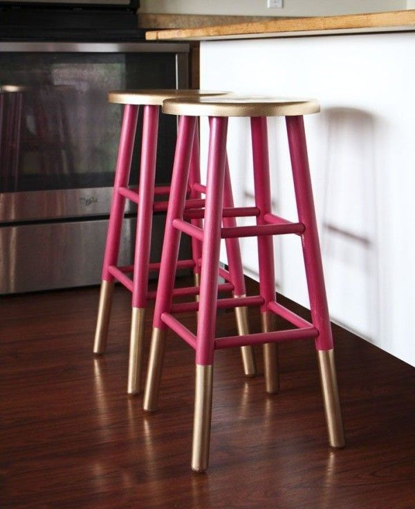 18 Brilliant Kitchen Bar Stools That Add A Serious Pop Of Color. Holz  BarhockerLackiert ...